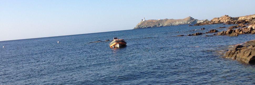 Saint-Florent strand, Saint-Florent, Korsika, Frankrike