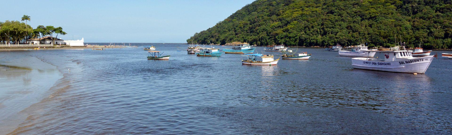 Praia de Itaguaré, Bertioga, Região Sudeste, Brasil