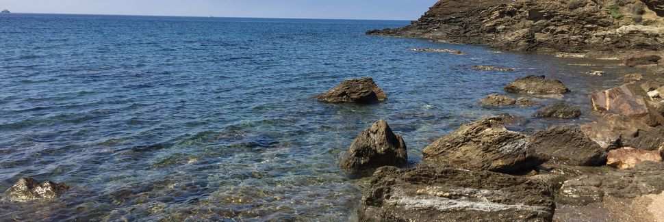 Strand von Baratti, Baratti, Toskana, Italien