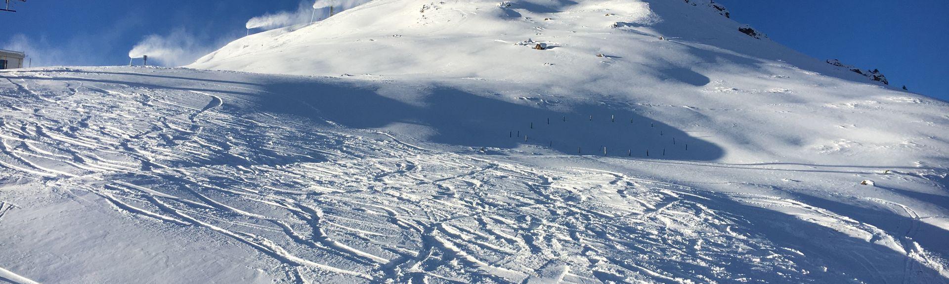 Waidring - Steinplatte skidlift, Waidring, Tyrolen, Österrike