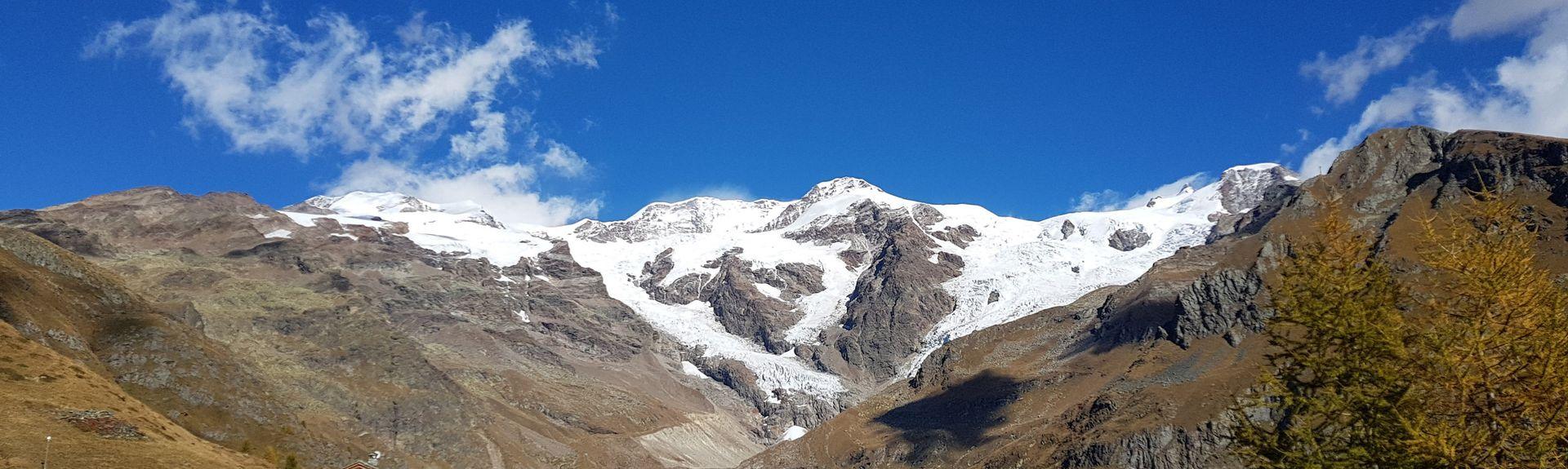 Staffal, Gressoney-la-Trinite, Aostadalen, Italia