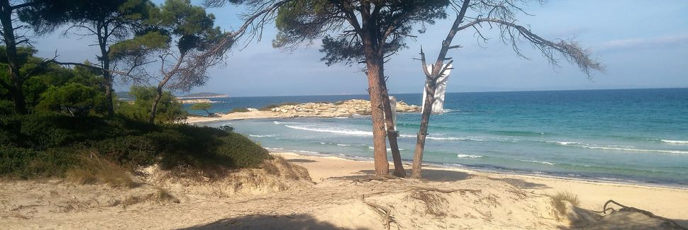 Praia de Lagomandra, Elia Nikitis, Trácia, Grécia