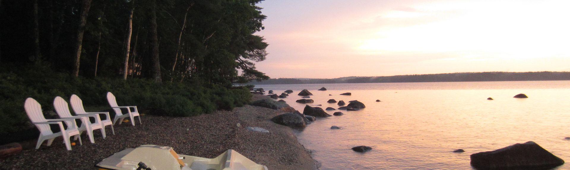 Watchic Pond, Standish, Maine, États-Unis d'Amérique