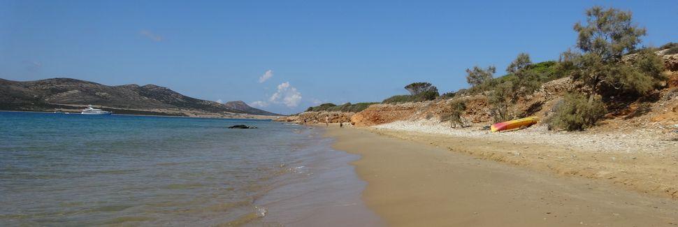 Strand von Plaka, Naxos und die kleinen Kykladen, Ägäische Inseln, Griechenland