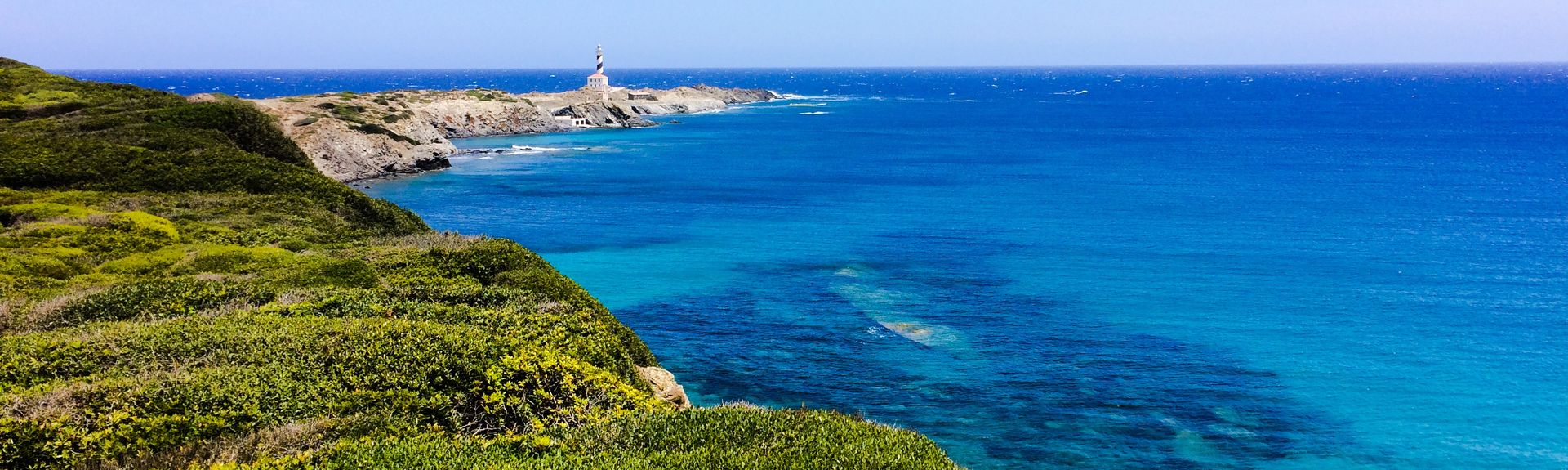 Ciutadella Lighthouse, Ciutadella de Menorca, Balearic Islands, Spain