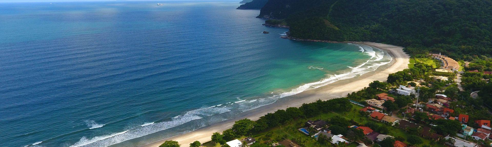 Playa de Guaeca, Sao Sebastiao, Sudeste (región), Brasil