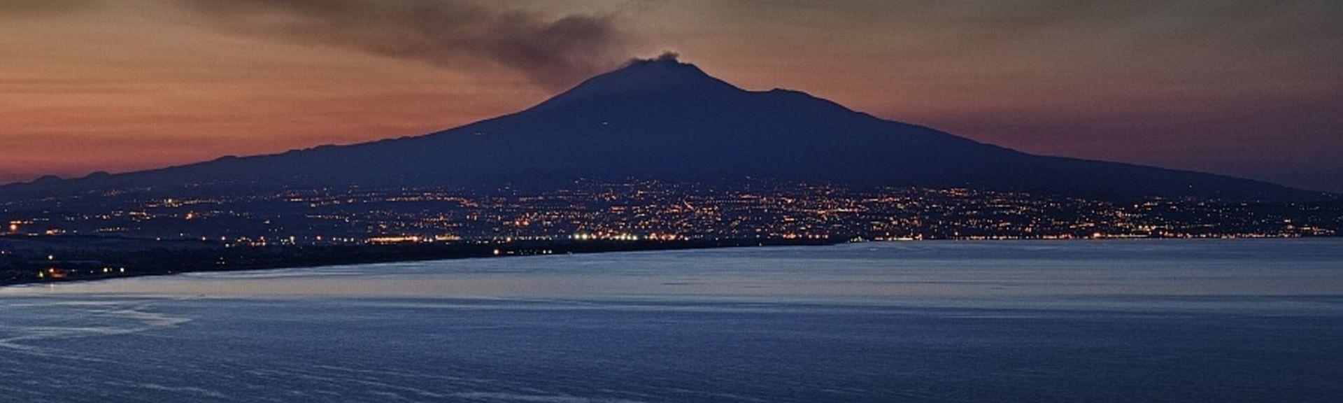 Catanias strand, Catania, Sicilien, Italien