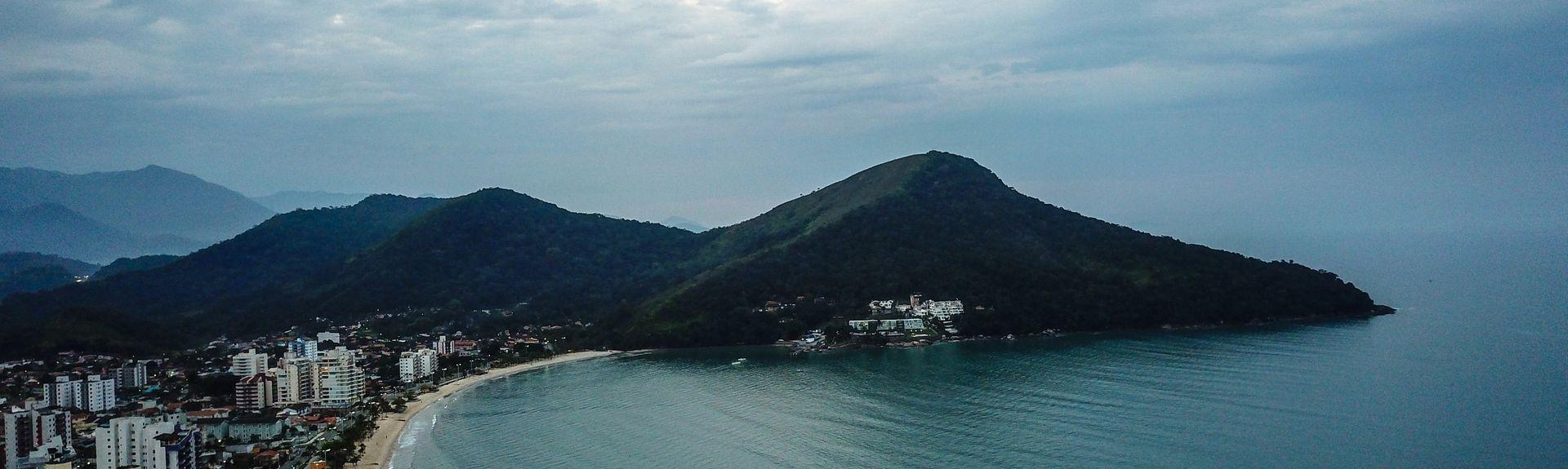 Capricorn Beach (plage), Caraguatatuba, Région Sud-Est, Brésil