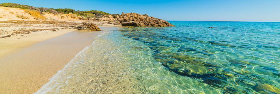 Strand von Mari Pintau, Geremeas, Sardinien, Italien