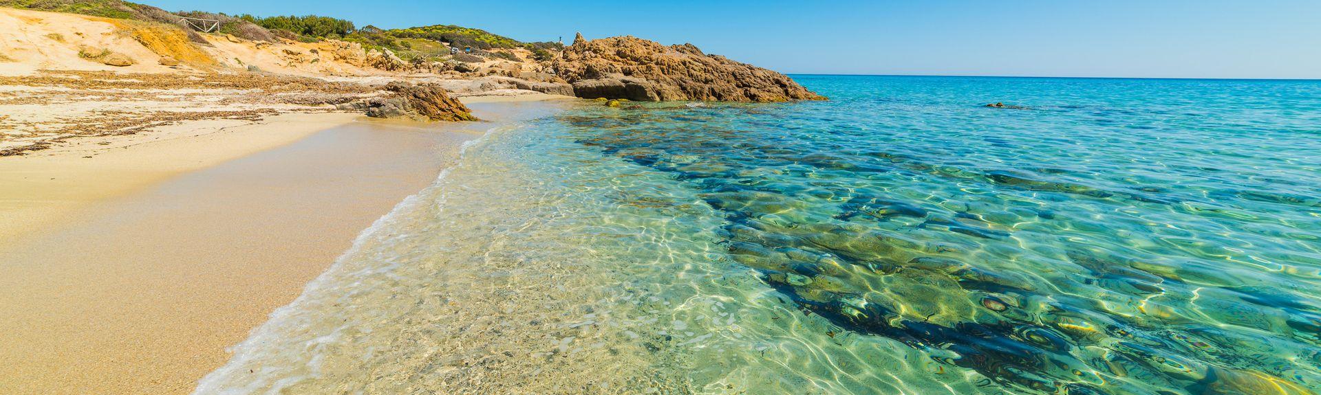 Spiaggia di Campulongu, Villasimius, Sardegna, Italia