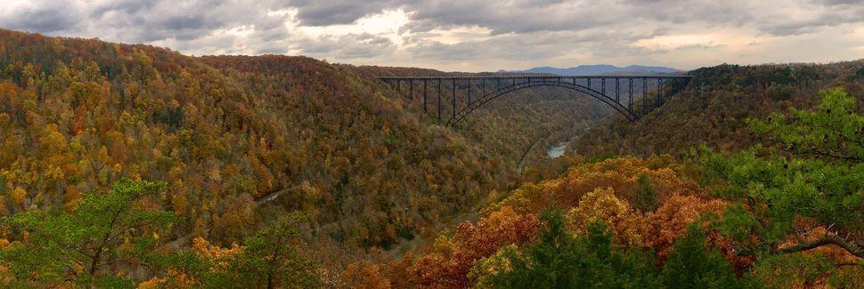 Parc national New River Gorge National River, Virginie-Occidentale, États-Unis d'Amérique