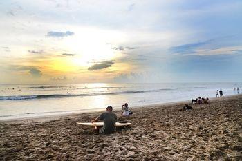 Strand van Batu Belig, Mengwi, Bali, Indonesië