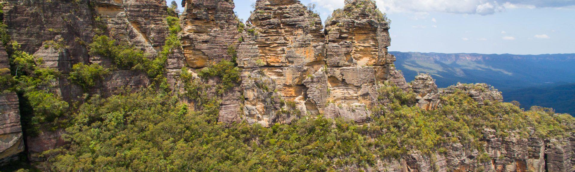 Plateforme d'observation Pulpit Rock Lookout, Nouvelle Galles du Sud, Australie