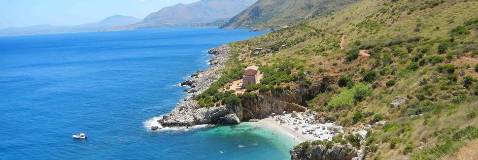 Monte Cofano naturreservat, Custonaci, Sicilien, Italien