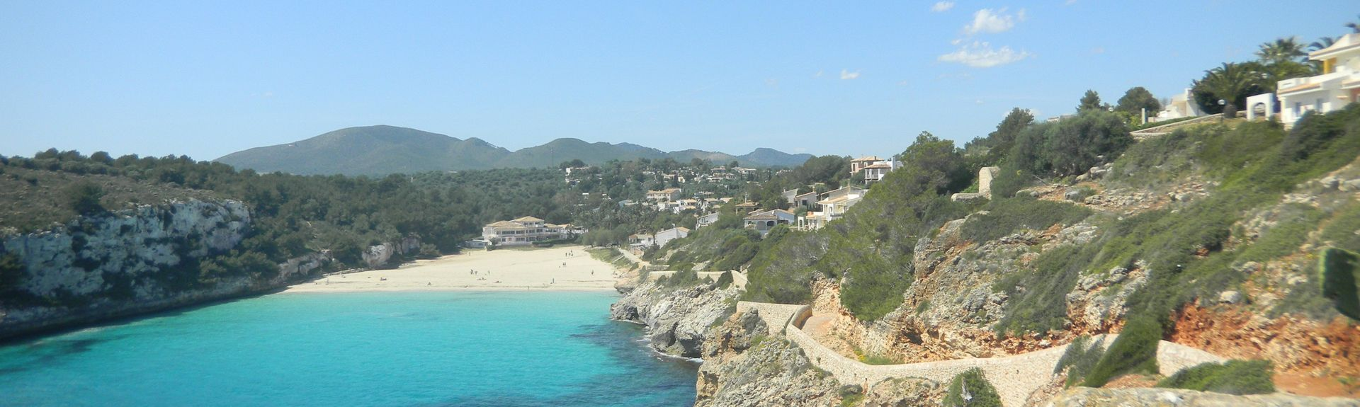 Cala Mandia, Balearerna, Spanien