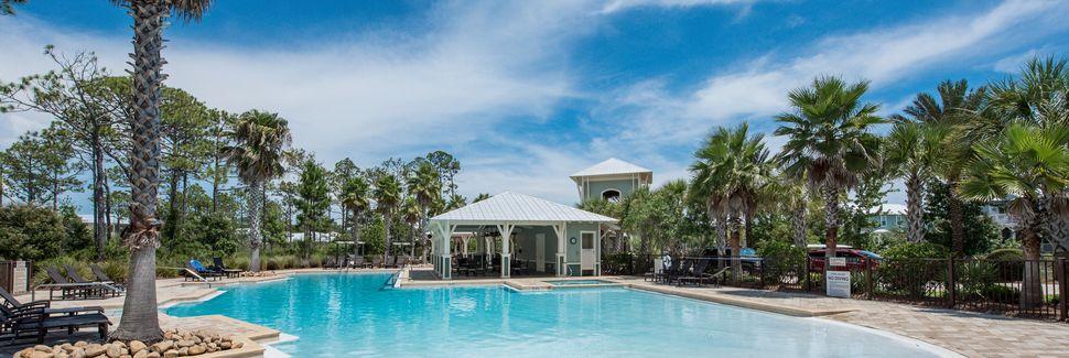 Campo de golfe no Seascape Resort, Miramar Beach, Flórida, Estados Unidos