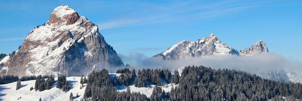 Station de ski Hoch-Ybrig, Oberiberg, Schwytz, Suisse