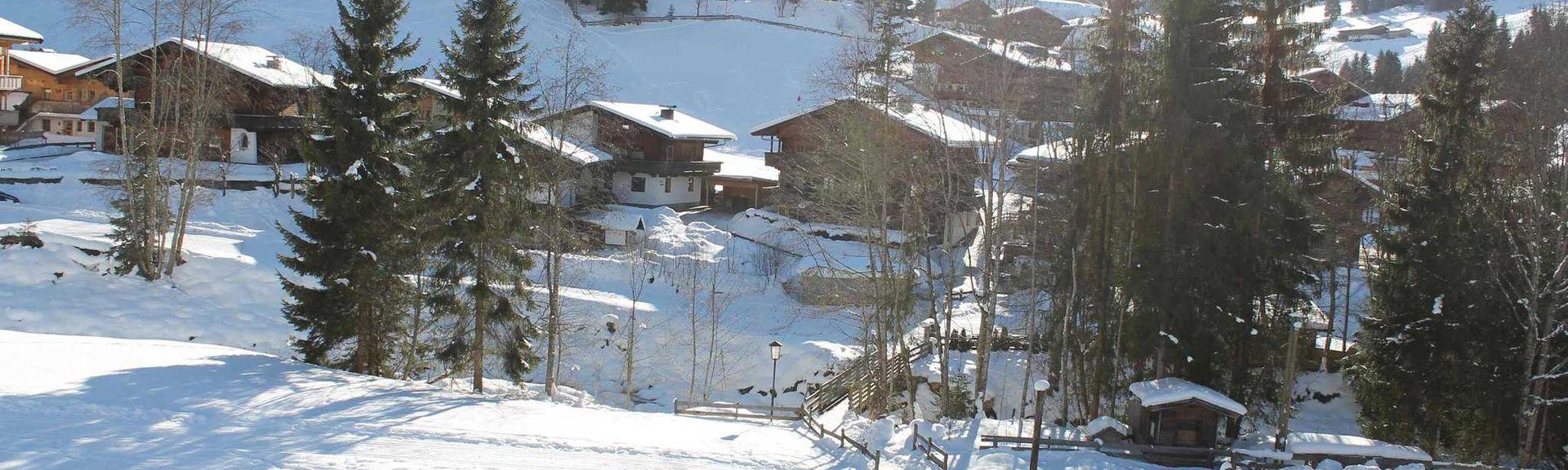 Eggalm Skiing, Tux, Tyrol, Austria