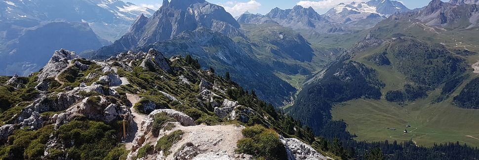 La Plagne -hiihtokeskus, Aime, Auvergne-Rhône-Alpes, Ranska