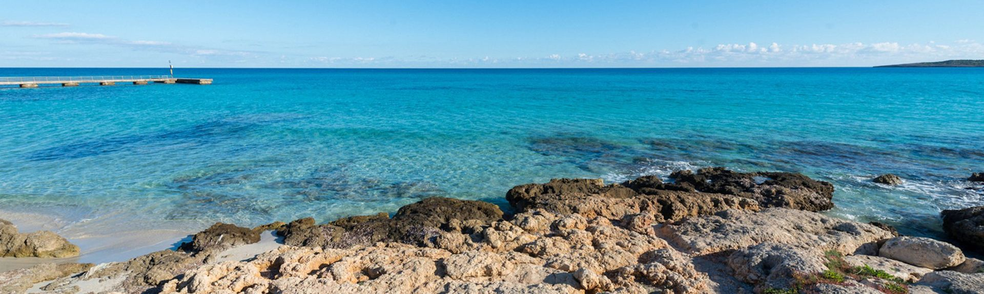 Cala Mandia, Manacor, Balearerna, Spanien