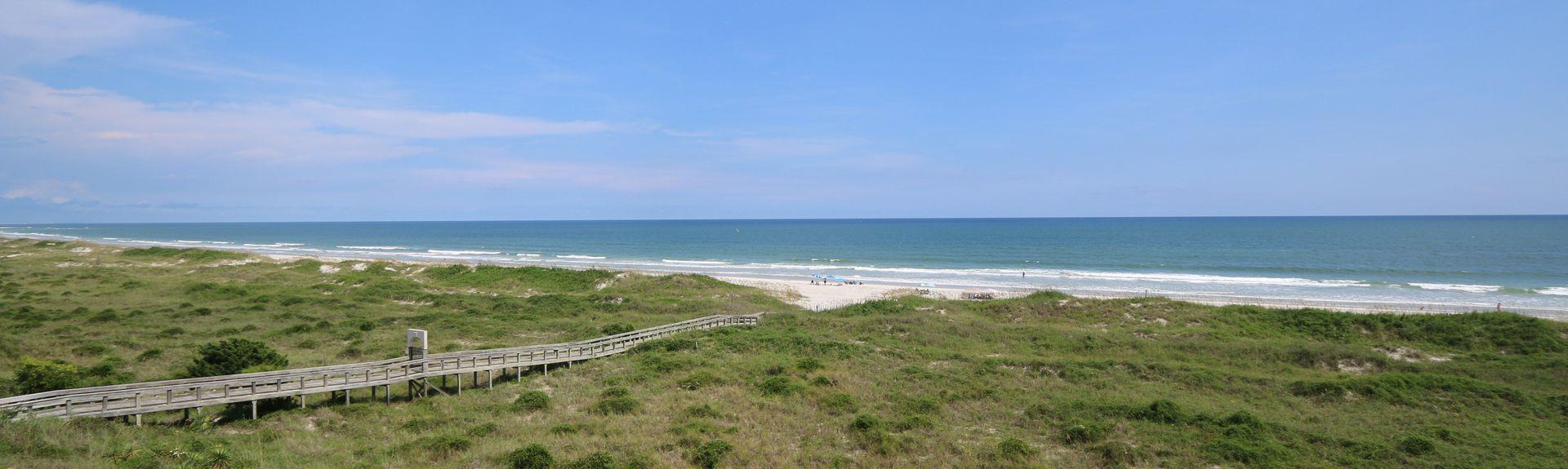 Jetée de Surf City, Holly Ridge, Caroline du Nord, États-Unis d'Amérique