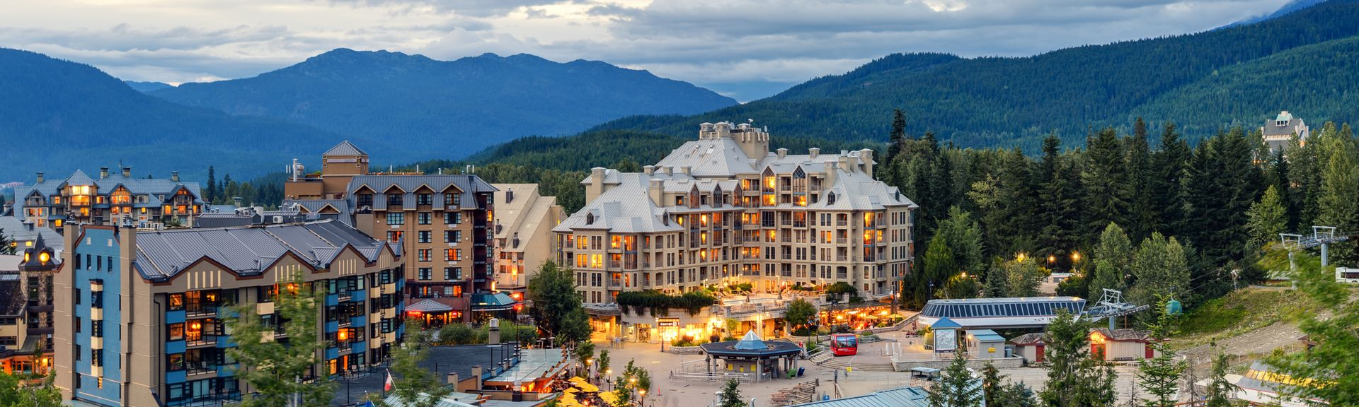 Upper Village, Whistler, Colombie-Britannique, Canada