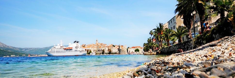 Korčulan vanha kaupunki, Korčula, Dubrovnik-Neretva, Kroatia