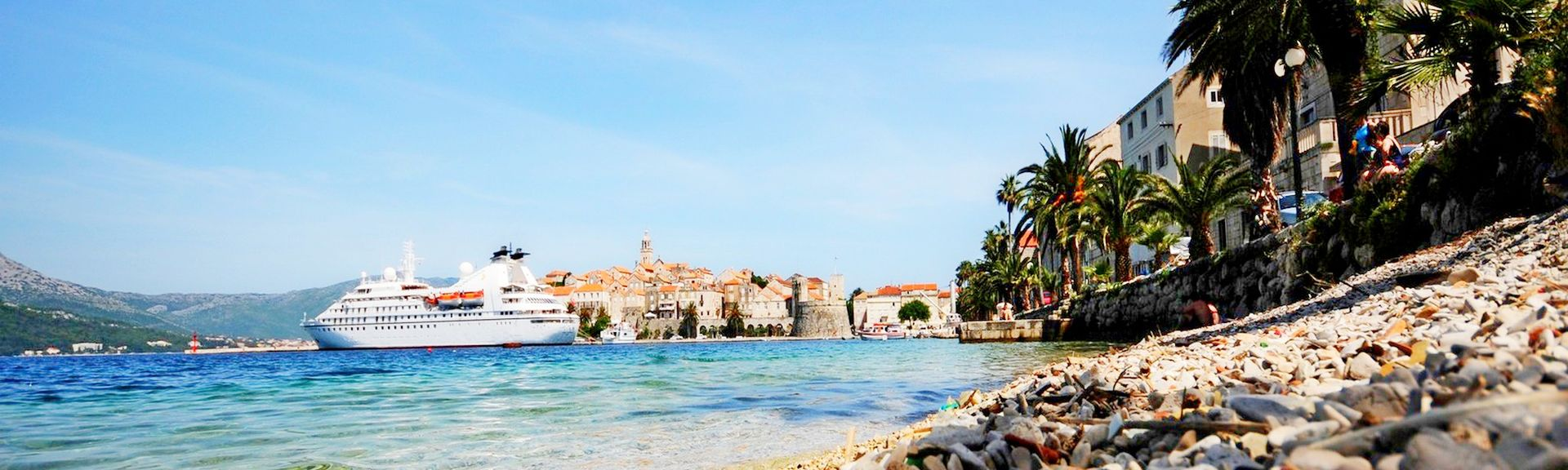 Vieille ville de Korčula, Korčula, Comitat de Dubrovnik-Neretva, Croatie