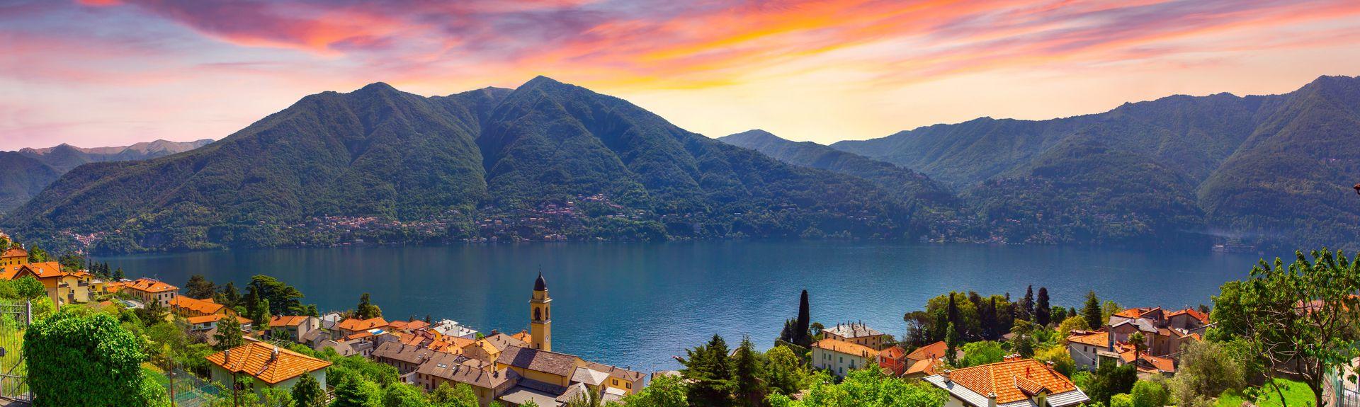 Comosøen, Lombardiet, Italien