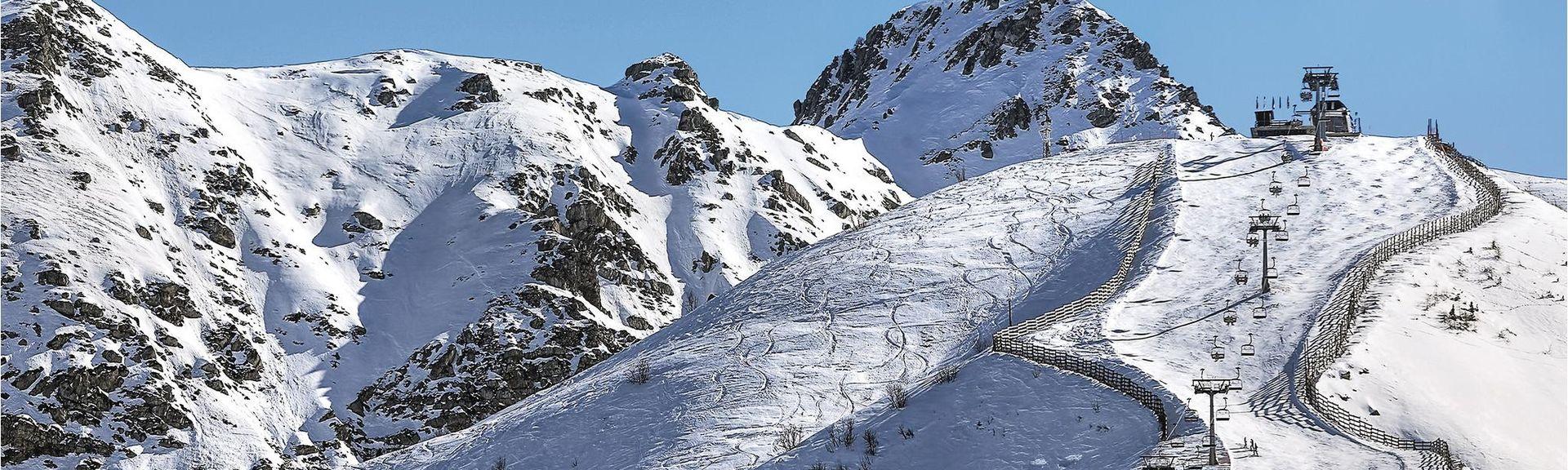 Crissolo - Skigebiet Monviso, Crissolo, Piedmont, Italien