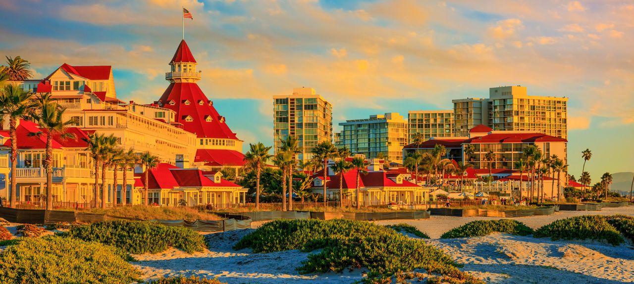 Strand von Coronado, Coronado, Kalifornien, Vereinigte Staaten
