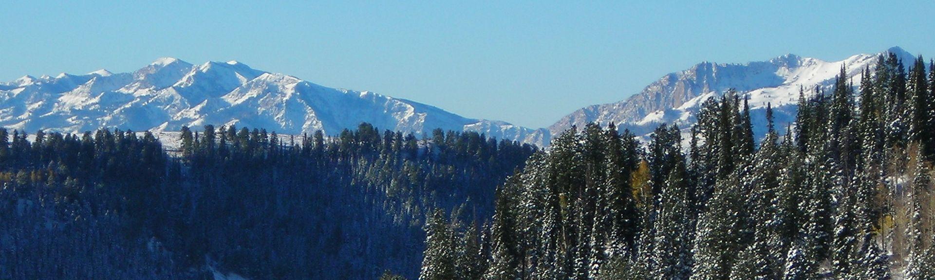 Station de ski de Powder Mountain, Eden, Utah, États-Unis d'Amérique