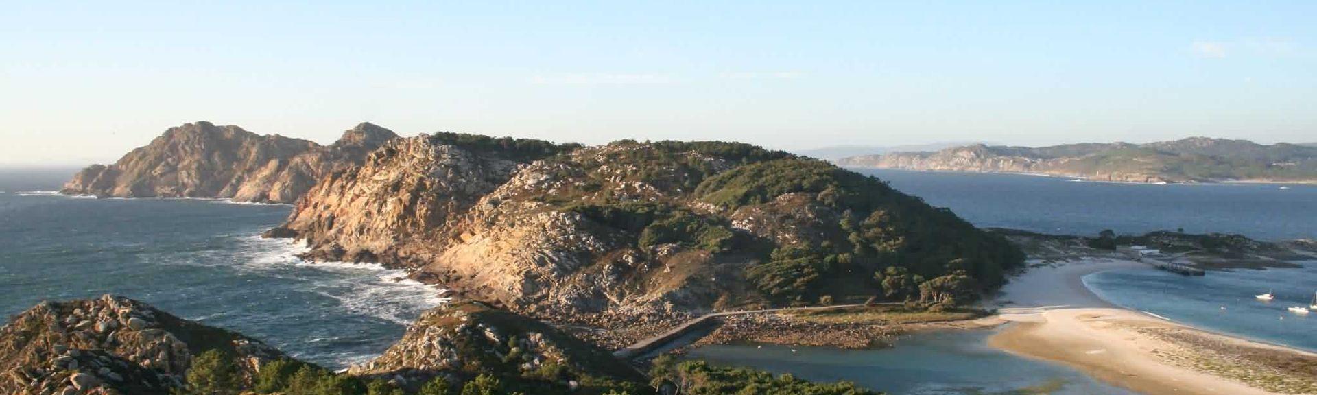 Plage de Silgar, Sanxenxo, Galice, Espagne