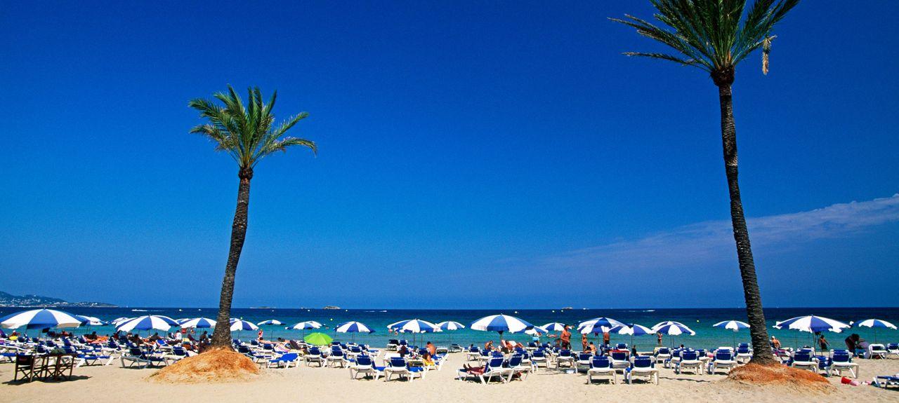 Playa d'en Bossa, Sant Josep de sa Talaia, Islas Baleares, España
