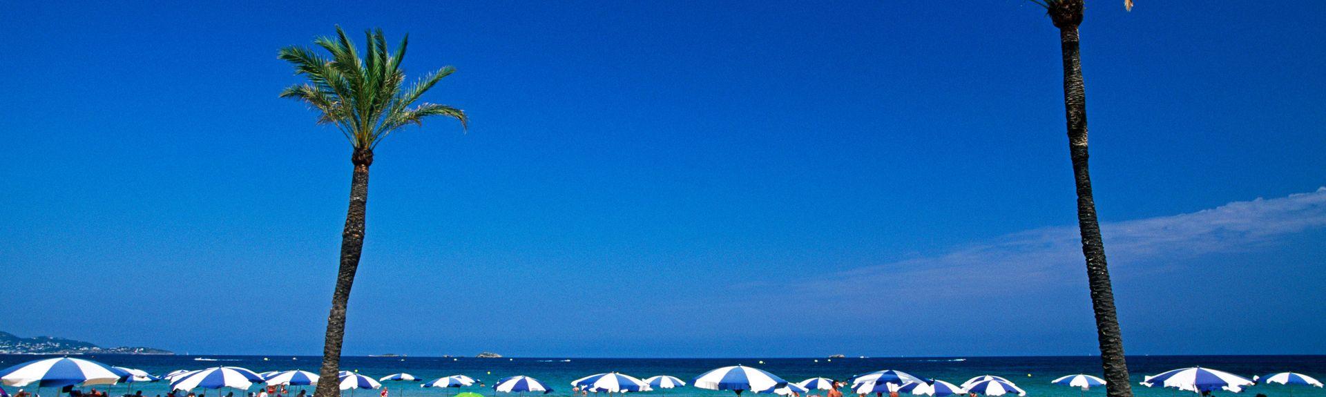 Playa d'en Bossa, Balearische Inseln, Spanien