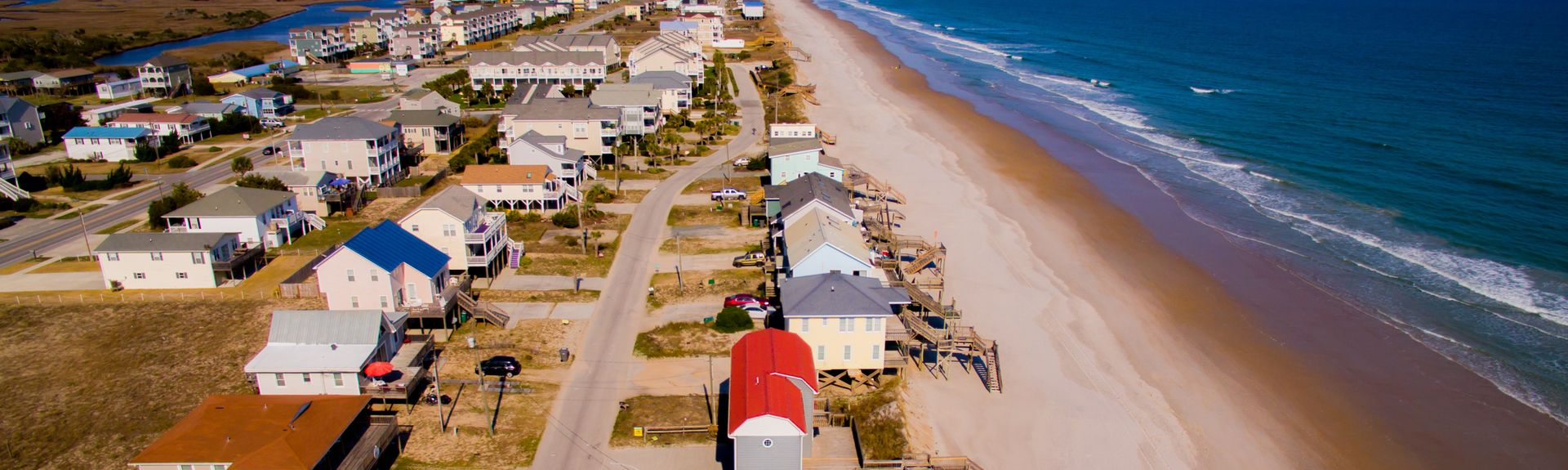 Topsail Island, Topsail-øen, North Carolina, USA
