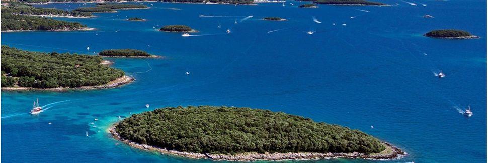 Strand von Umag, Umag, Gespanschaft Istrien, Kroatien