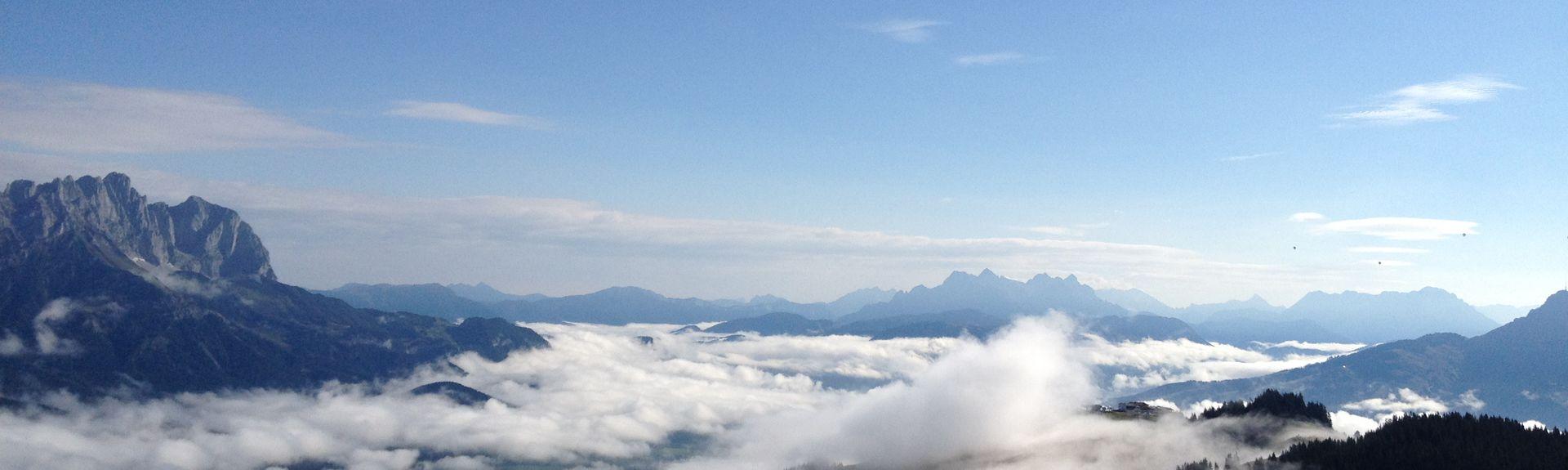 Ehrenbachhöhen hiihtohissi, Kitzbühel, Tiroli, Itävalta