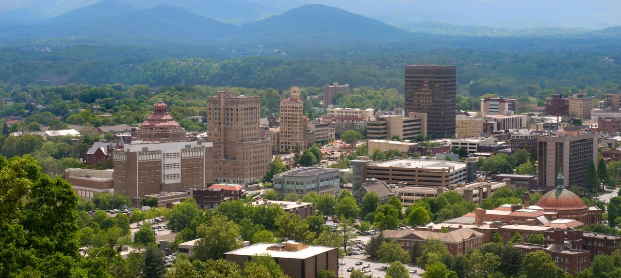 Downtown, Asheville, NC, USA