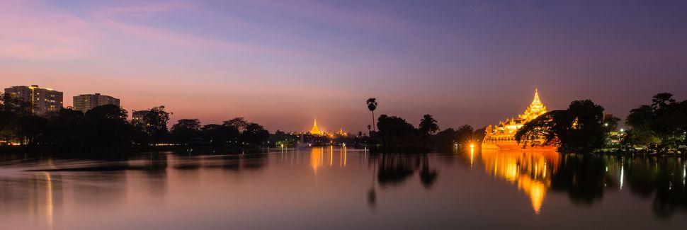 Hôtel de Ville de Yangon, Rangoun, Région de Yangon, Myanmar (Birmanie)