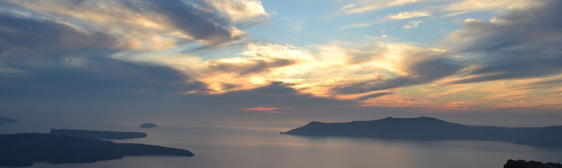 Pyrgos, Santorini, Egeu Meridional, Grécia