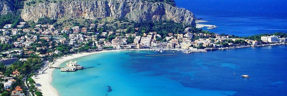 Mondellon ranta, Palermo, Sisilia, Italia