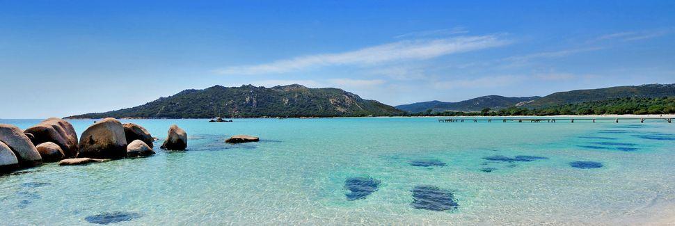 Pinarellun ranta, Zonza, Korsika, Ranska