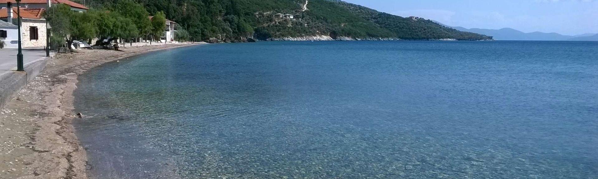 Megali Ammos-stranden, Skiathos, Thessalia Sterea Ellada, Hellas