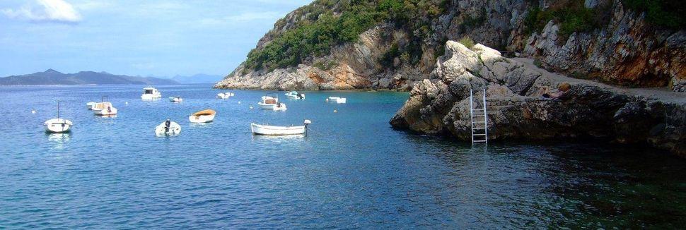 Spiaggia di Lapad, Ragusa, Regione raguseo-narentana, Croazia