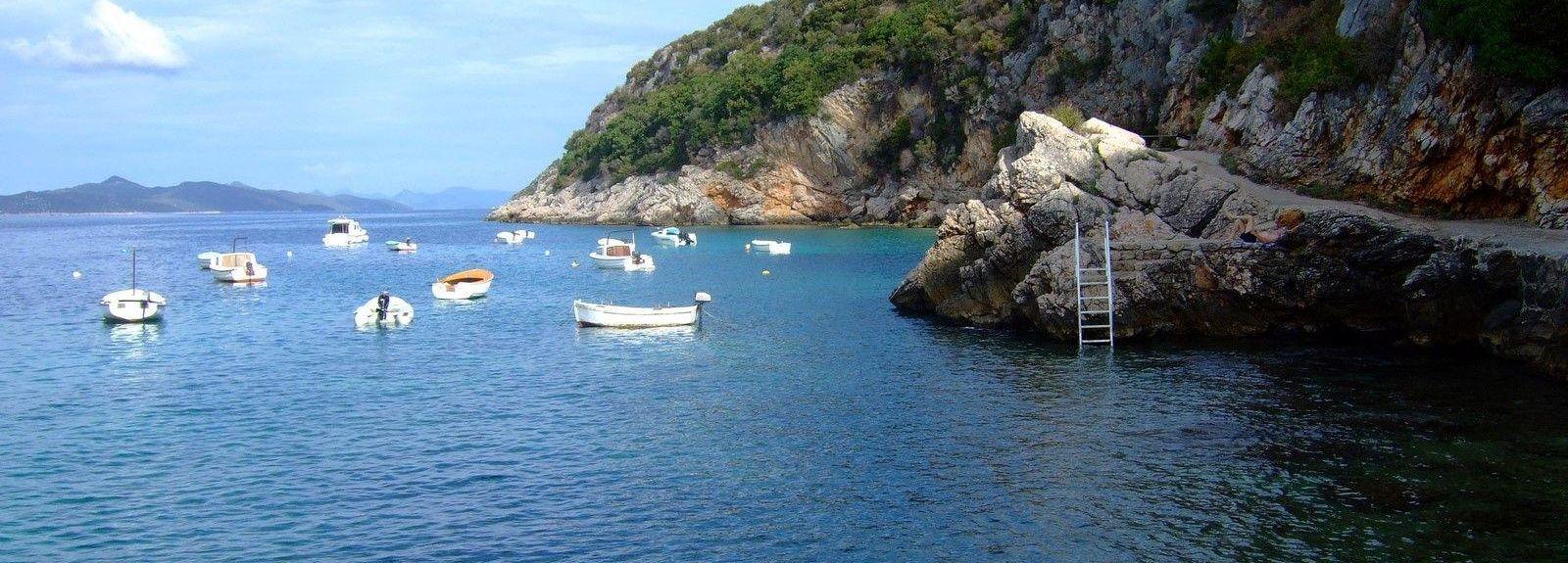 Lapad-stranden, Dubrovnik, Dubrovnik-Neretvas län, Kroatien