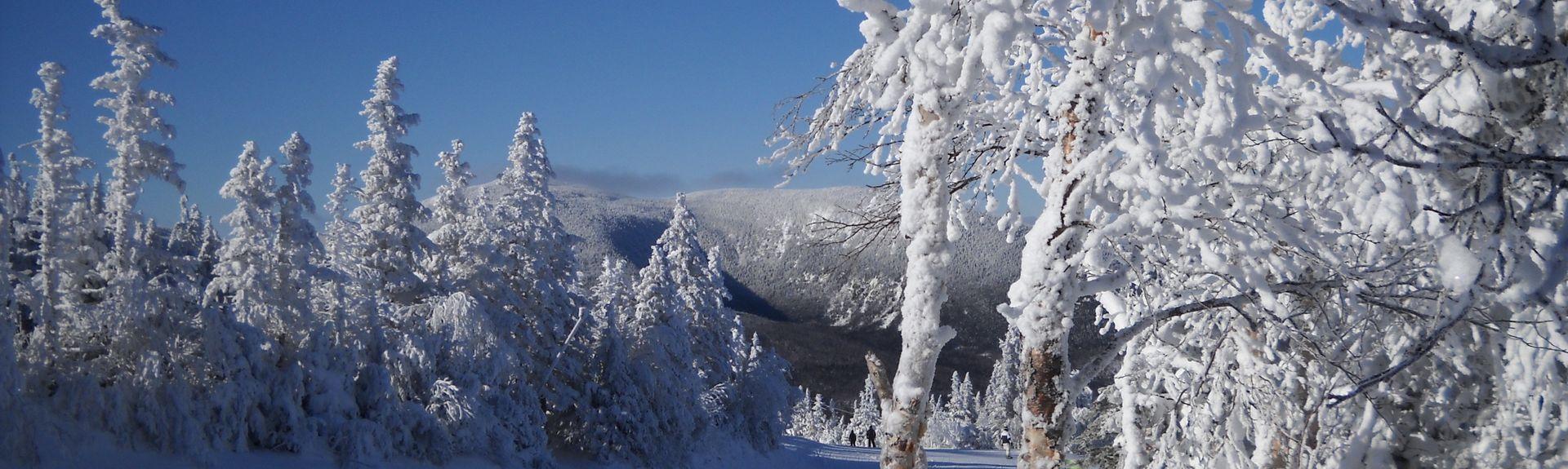 Station de ski de Sugarloaf, Carrabassett Valley, Maine, États-Unis d'Amérique