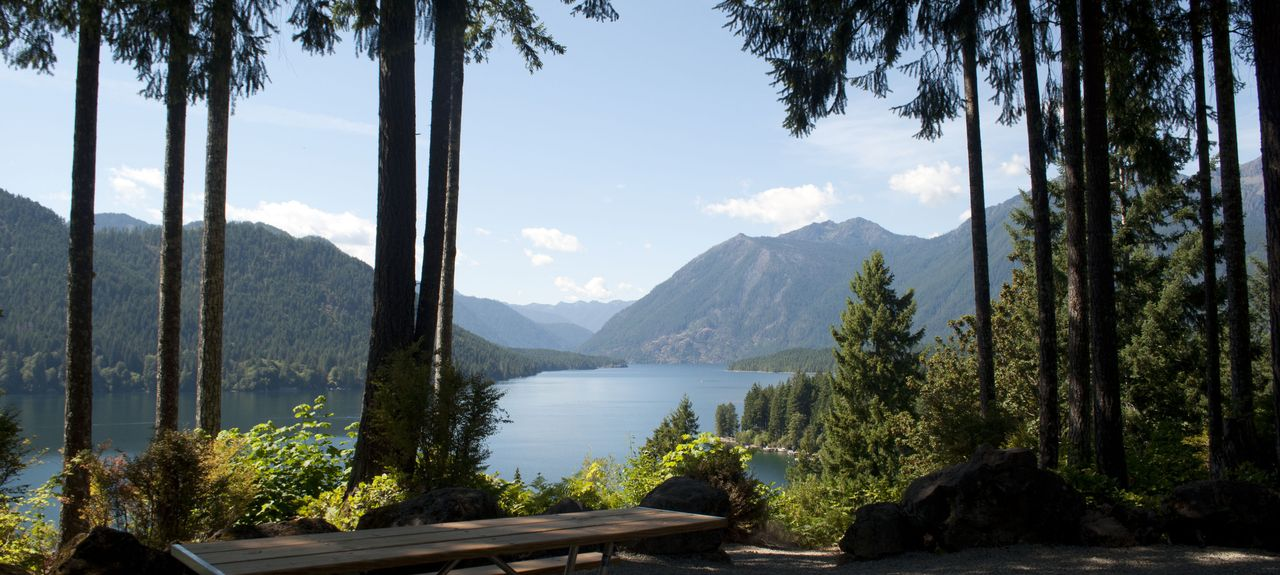Lake Cushman, Hoodsport, Washington, États-Unis