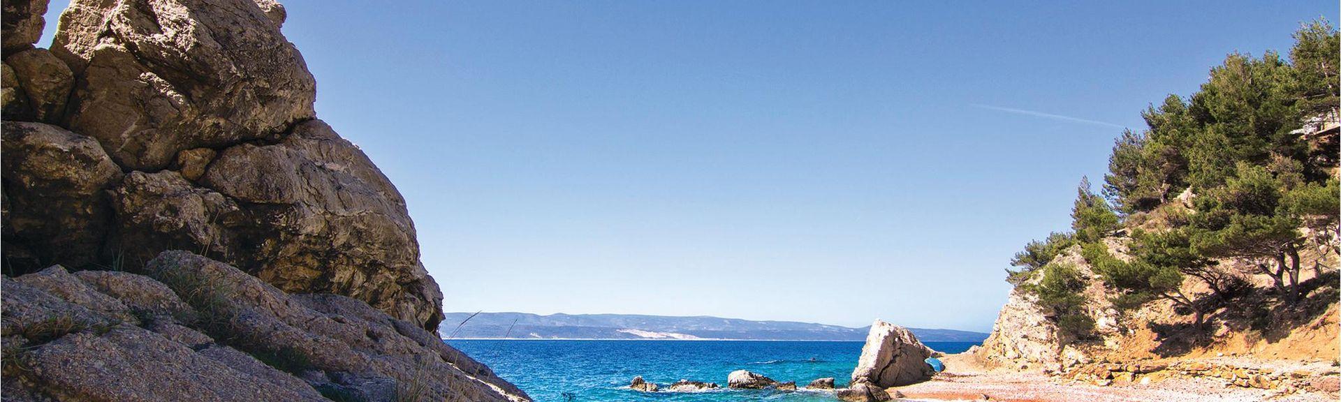 Playa Zlatni Rat, Bol, Split-Dalmacia, Croacia