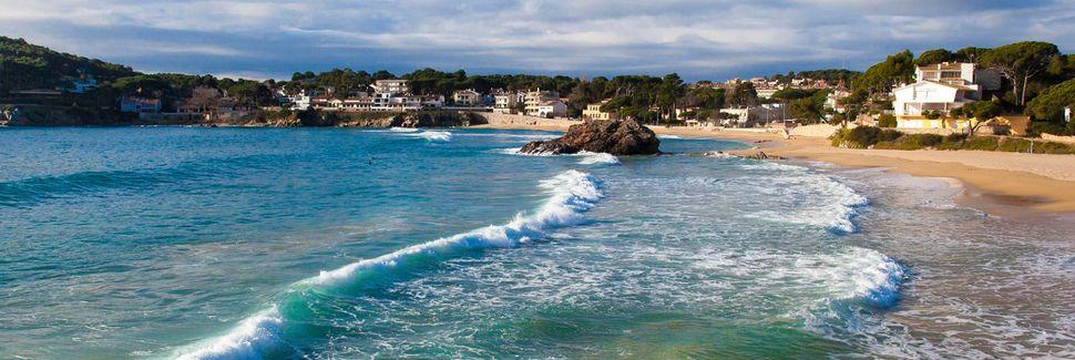 Spiaggia di Lloret de Mar, Catalogna, Spagna